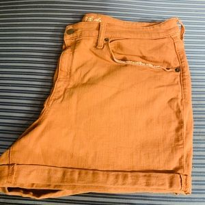  High-Rise burnt orange jeans Shorts by Universal
